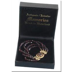 Occasion: 4 Rijig Granaten Armband gouden slot