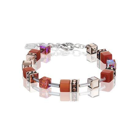 Coeur de Lion armband donker oranje 4016-30-0221