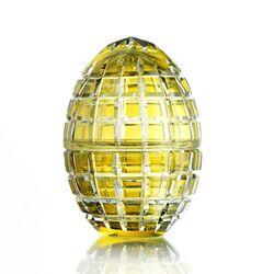 Tatiana Fabergé kristallen Egg Box zacht geel