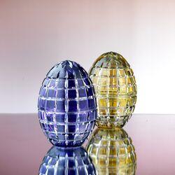 Kristal egg box geel hermitage Fabergé