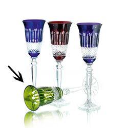 Faberge Stel Kristallen Flutes Groen