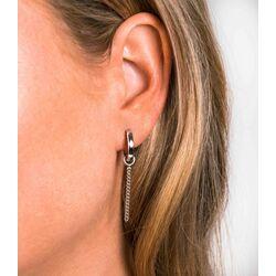 Zilveren oorbedels gourmet ketting 30mm ZICH1694