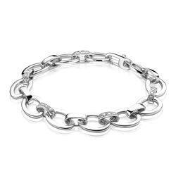 Zilveren armband ovaal glad wit ZIA781