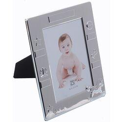 Verzilverde Geboorte Fotolijst