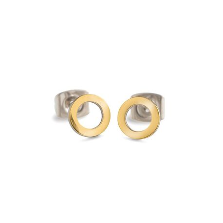 La Figura cirkels oorsters geelverguld