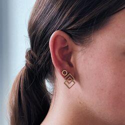 La Figura vergulde oorstekers ruiten