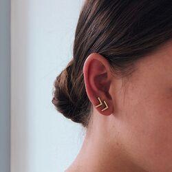 La Figura vergulde oorstekers v-vorm