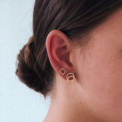 La Figura titanium oorstekers cirkels verguld