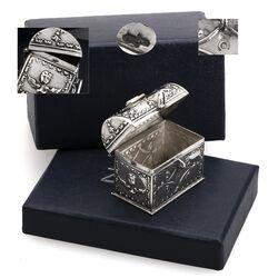 Antiek zilveren lodereindoosje koffertje