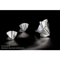 Claudem zilveren oorstekers Lapponia 672773