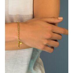 Zilveren fantasie armband geelgoud verguld 19,5cm ZIA1129G