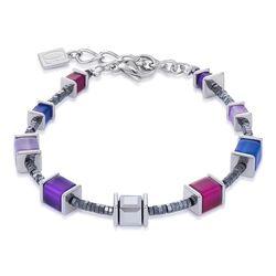 Coeur de Lion armband blauw lila 4945-30-0807