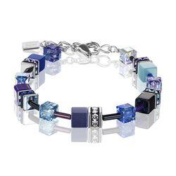 Coeur de Lion armband blauw lila 2838-30-0708