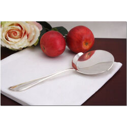 Zilveren spiegelei schep model dubbelpuntfilet