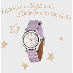 D for Diamond kinderhorloge paars Z1101
