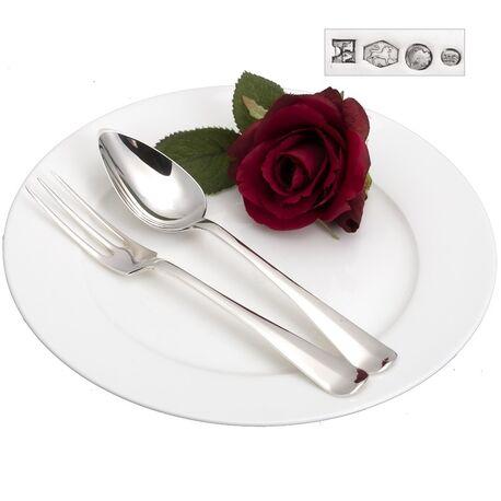 Zilver dessertcouvert antiek Haags lofje
