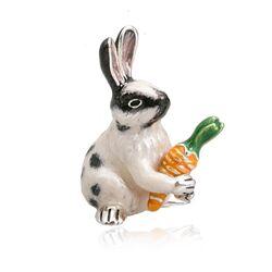 Saturno zilveren konijn met wortel