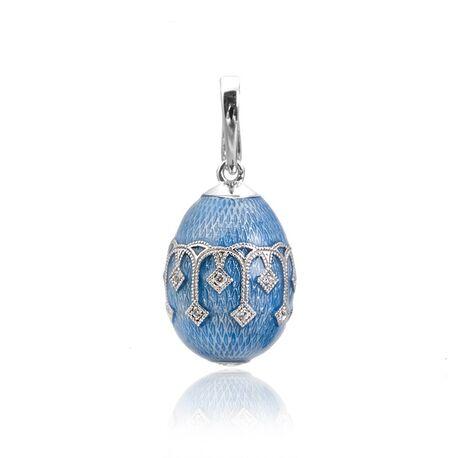 Fabergé licht blauwe hanger zirkonia