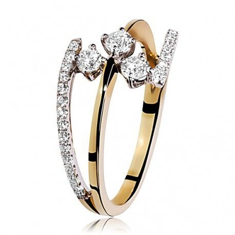 Geelgouden Ring 33 Briljanten