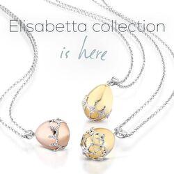 Faberge gouden ketting met hanger ei met briljant