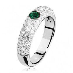 Witgouden ring smaragd 90 pavé gezette  briljant