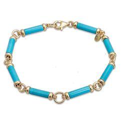 Tatiana Fabergé vergulde armband turkoois