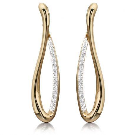 Fiorelli Infinity oorbellen met diamant
