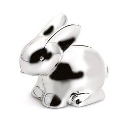 Verzilverde spaarpot konijn
