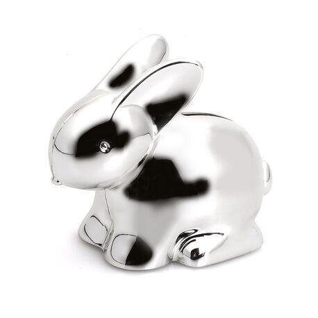 Spaarpot konijn verzilverd