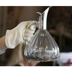 karaf zilver montuur in de vorm van een hoorn