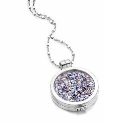 MY iMenso set 24 mm medaillon en ketting met paarse steen