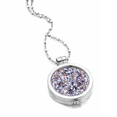 MY iMenso actieset 24 mm medaillon en ketting gratis paarse steen
