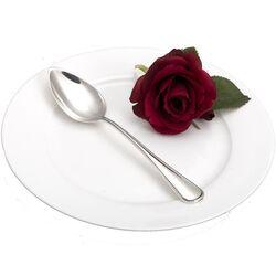 Dessertlepel parelrand zilver