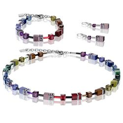 Coeur de Lion set Rainbow Dark GeoCUBE