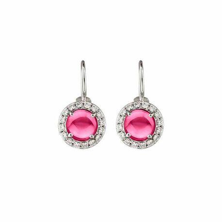zilver oorbellen pura roze MY iMenso