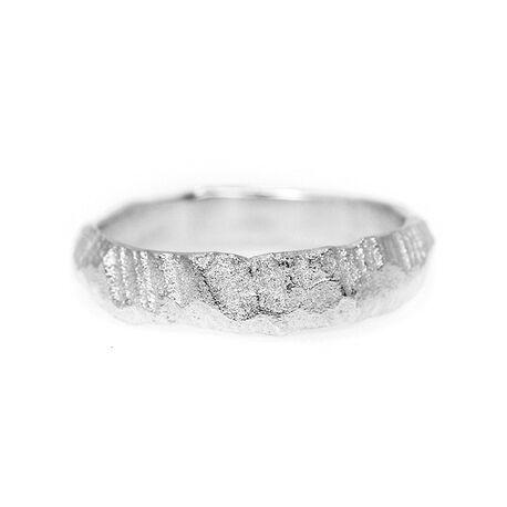 Liesbeth Busman Rock 5 Mm Ring Zilver Nr25