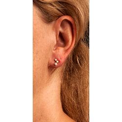 Gouden oorbellen met briljanten