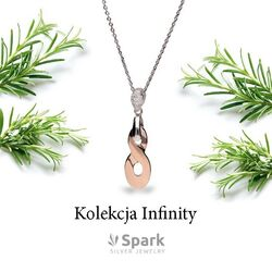 Spark infinity ketting rosé