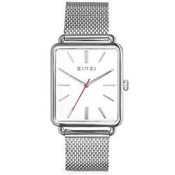 Zinzi vintage retro horloge witte wijzerplaat