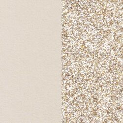 Les Georgettes 12 mm inlay beige glitters
