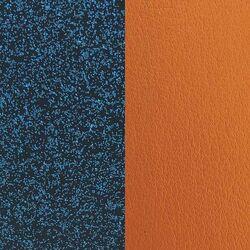 Les Georgettes 12 mm inlay glitter blauw oranje