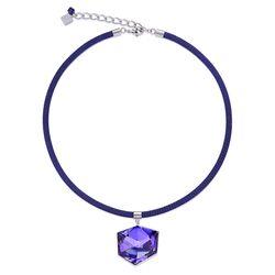 Coeur de Lion collier mesh paars crystal