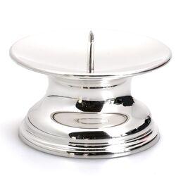 Zilveren kandelaar voor stompkaars