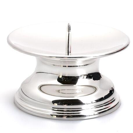 Zilveren kandelaar penkandelaar voor stompkaarsen