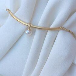 Verguld zilver armband met parel Julie Sandlau br120gdwhpl