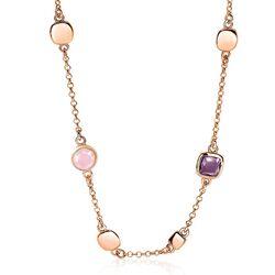 Zinzi rosé collier roze paars ZIC1725R