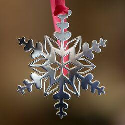 Zilveren kerstboomhanger ijskristal xmas05