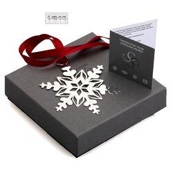 Zilveren kerstboomhanger ijskristal Carrs XMAS05