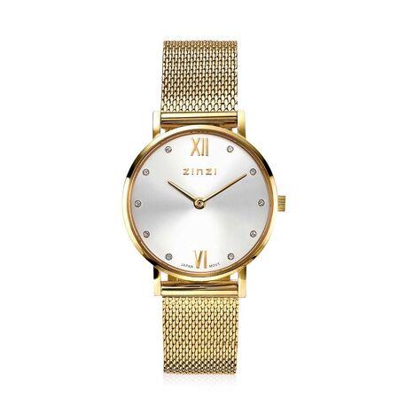 Zinzi Lady Crystal watch verguld ZIW633M
