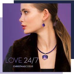 Coeur de Lion collier paars 4889-10-0800